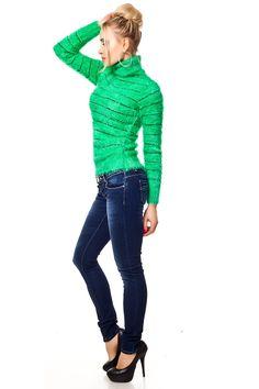 Blue Wash Slim Fit Jeans Used Effekte