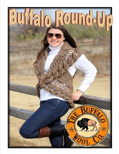 Buffalo Round Up Shrug Kit from The Buffalo Wool Co.