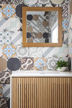 Quirky old tile layout for toilet.... so fun....  3×9 House / a21 studio