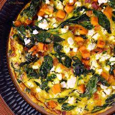 Spinach & Sweet Potato Frittata by Kristine Hoskins! #TheChew #Breakfast