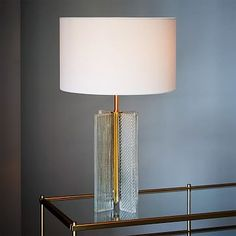 Patterned Glass Table Lamp #westelm