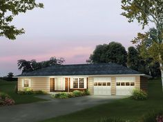 Hy-Style Ranch II Country Home  from houseplansandmore.com