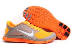 innovative design 836aa 182c7 Nike Women Shoes Nike Free 4.0 V3 Orange-Gray  59.00