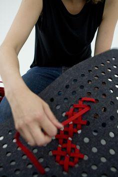 Charlotte Lancelot Design Studio Felt cross stitch rug