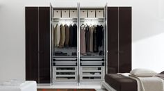 Wardrobe interiors by Zalf and Gruppo Euromobil