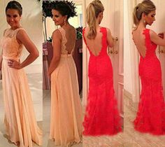 UK Women Ladies New Backless Lace Maxi Long Party Evening Cocktail Formal Dress