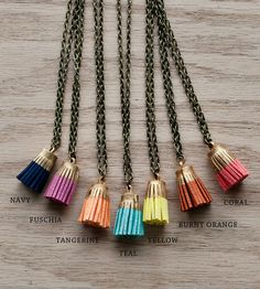 Too cute!   Leather Tassel Necklace | Jewelry Necklaces | JillMakes | Scoutmob Shoppe | Product Detail