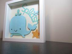 Splash Whale Nursery Art Customizable by twentythirty on Etsy, $15.00