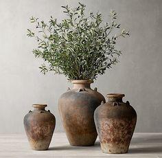 Olive Branch Arrangement & C. Diy Candle Holders, Diy Candles, Interior Natural, Style Brut, Olive Jar, Keramik Vase, Terracota, Medicine Cabinet Mirror, Modern Shop