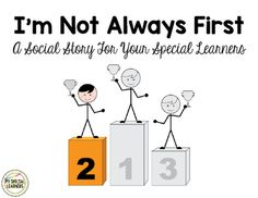 This is a social story to use with your students with special needs that always want to finish their work first, come in first place, or win every game. The book should be printed, laminated, and bound for durability and multiple uses. The book is 7 pages and there is also a single page sheet with the same text.Visit my blog @ My Special Learners and find me on Instagram at myspeciallearners!