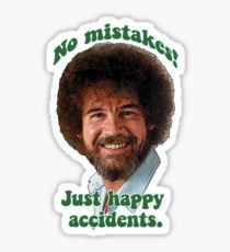 Bob Ross No Mistakes Aufkleber Aufkleber auf Mercari - Stickers - Phonecases Snapchat Stickers, Meme Stickers, Mirror Stickers, Tumblr Stickers, Cool Stickers, Printable Stickers, Macbook Stickers, Phone Stickers, Bob Ross