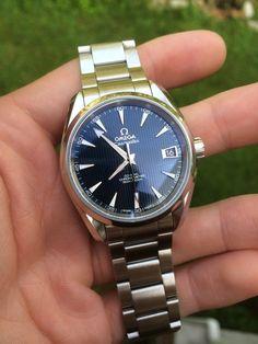 Omega Aqua Terra 8500/Skyfall Blue 38.5mm/B&P/Warranty Image 1 Diesel Watches For Men, Best Watches For Men, Luxury Watches For Men, Relic Watches, Iwc Watches, Stylish Watches, Casual Watches, Longines Watch Men, Omega Railmaster