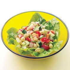 Greek Diner Salad Make-Ahead Lunch Salads Healthy Cooking, Healthy Eating, Cooking Recipes, Healthy Suppers, Clean Eating, Eating Well, Cooking Ideas, Greek Dinners, Healthy Salad Recipes