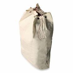 Heavy Duty Natural Canvas Laundry Bag - BedBathandBeyond.com