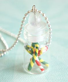 candy canes in a jar necklace