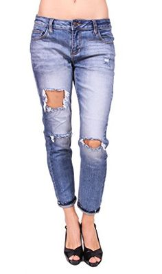 a5fe11a091 Cello Jeans Woman Vintage Distressed Boyfriend Jeans 9 Medium Denim    For  more information