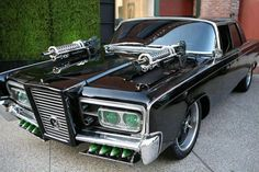 Green Hornet's 1966 Chrysler Imperial Black Beauty to be Raffled Off - Cars Chrysler Voyager, Famous Movie Cars, Dodge, The Blues Brothers, Green Hornet, Chrysler Imperial, Us Cars, Amazing Cars, Awesome
