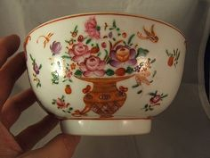 Chinese famille rose porcelain bowl  Qianlong  14.8cms