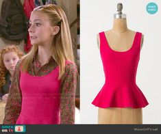 Avery's pink peplum top on Dog with a Blog.  Outfit Details: http://wornontv.net/48670/ #DogwithaBlog
