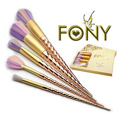 FONY Makeup Brush Set 5 Piece Professional Unicorn Makeup...