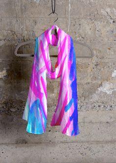 Cashmere Silk Scarf - Spaced Out. Foulard Soie Cachemire - Espacées. By Vida Vida Par Vida Vida k8Nh7YKJr