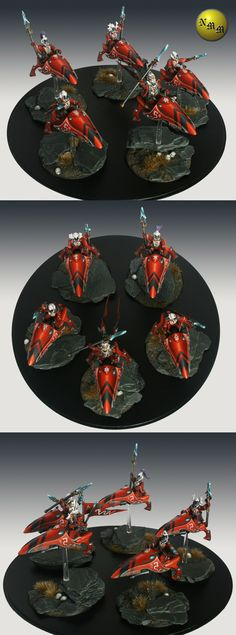 Eldar Saim-Hann Farseer and Warlocks on jetbikes