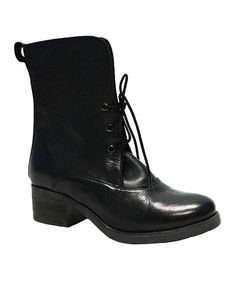 Look what I found on #zulily! Black Vin Leather Boot #zulilyfinds