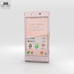 Kyocera Urbano V02 Pink 3D Model .max .c4d .obj .3ds .fbx .lwo .stl @3DExport.com by humster3D