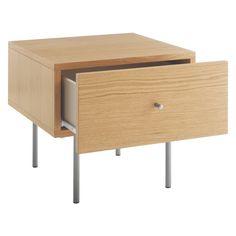 ROWAN Oak 1 drawer bedside table