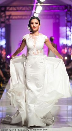 Vietnamese-American designer, Jacky Tai, sends his bridal collection of wedding ao dai's and wedding gowns down the catwalk at Viet Fashion Week Bridal Gowns, Wedding Gowns, Fashion Week 2016, Ao Dai, Bridal Collection, Catwalk, One Shoulder Wedding Dress, Runway, Photography