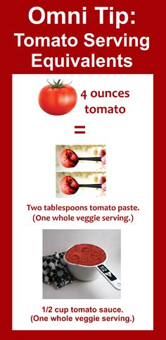 Omnitrition P2 Tomato Serving Equivalents of: tomato, tomato paste, and tomato sauce - Omni - hCG