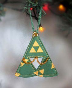 Legend of Zelda Triforce Christmas Tree Topper  Holiday