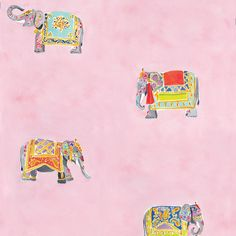 Caitlin McGauley for Studio Four elephant wallpaper