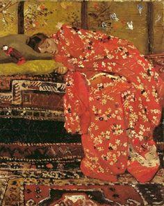 Girl in Red Kimono, George Hendrik Breitner (1857–1923).