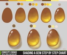 Shading a Gem Step by Step Chart by ConceptCookie on DeviantArt