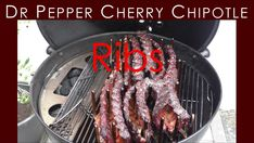 Dr. Pepper Cherry Chipotle Ribs - Rezept von Rurtalgriller Chipotle, Dr Pepper, Grill Pan, Ribs, Grilling, Cherry, Stuffed Peppers, Barbecue Recipes, Stuffed Pepper