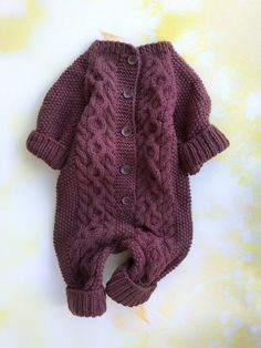 5a88f7e0623e Knit baby jumpsuit Knitted baby romper Newborn knit outfits Wool baby  jumpsuit Custom baby onesie Co