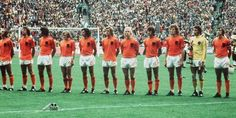"The ""clockwork orange"". Dutch team in the World Cup Germany Best team never to win the World Cup. Football Squads, Football Gear, Arsenal Football, National Football Teams, Retro Football, School Football, Vintage Football, Soccer Teams, Paisley Scotland"