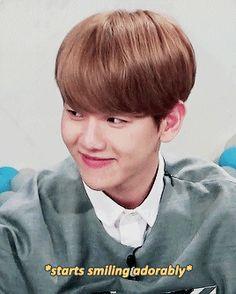 "Cute Baekhyun during ""Hello Counselor"""