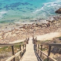 Stairs at Point Dume State Beach, Malibu, California // via julieskitchen