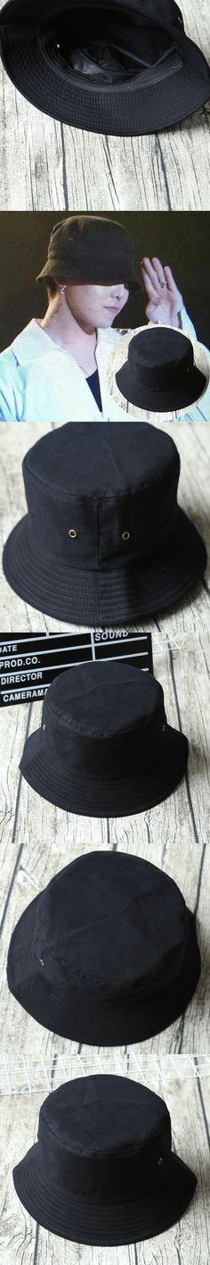 G-dragon Bigbang Bucket Hats Rocking Stylish Hiphop Pots Hats GD Solid Black Poly Man Cap Unisex Flat Casual Hat Spring Sunhat