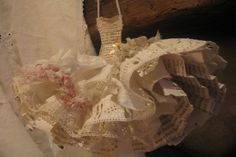 Assemblage Art Dress Made From Paper and Fabric  by MesssieJessie, £45.50