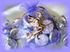 Silver Wicked Witch Pin Brooch..Halloween Gift..Purple Halloween Candy Bag..Halloween Treat Bag..Halloween Trick or Treat Bag..Party Favor by UniqueTrinkets4u #uniquetrinkets