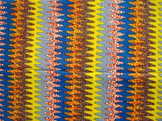 Funky waves African wax print batik fabric BY THE by ChilliPeppa, £4.70
