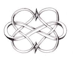 Two hearts intertwined forever. Perfect tattoo idea!