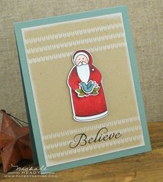 Believe Card by Nichole Heady for Papertrey Ink (October 2012)