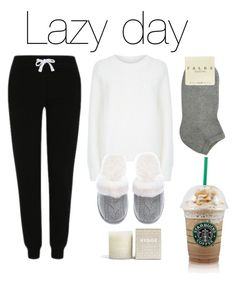 """Lazy day #1"" by louise-w-pedersem on Polyvore featuring T By Alexander Wang, Victoria's Secret, George, Falke, women's clothing, women's fashion, women, female, woman and misses"