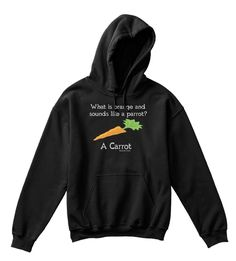 What Is Orange And  Sounds Like A Parrot? A Carrot Alexander & Kent Black T-Shirt Front