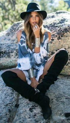 ╰☆╮Boho chic bohemian boho style hippy hippie chic bohème vibe gypsy fashion…