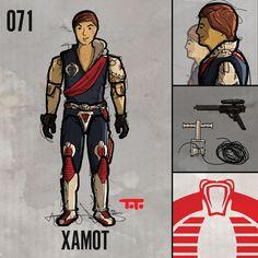 "071: ""Xamot."" G.I. Joe ""Real American Hero"" Series 4, 1985."